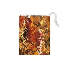 Abstraction Abstract Pattern Drawstring Pouches (Small)