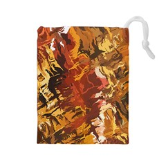 Abstraction Abstract Pattern Drawstring Pouches (large)
