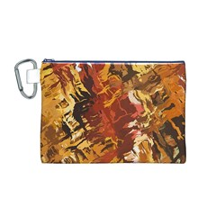 Abstraction Abstract Pattern Canvas Cosmetic Bag (m)