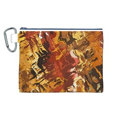 Abstraction Abstract Pattern Canvas Cosmetic Bag (L)