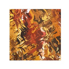 Abstraction Abstract Pattern Small Satin Scarf (Square)