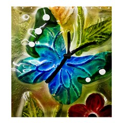 Blue Spotted Butterfly Art In Glass With White Spots Shower Curtain 66  x 72  (Large)