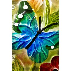 Blue Spotted Butterfly Art In Glass With White Spots 5.5  x 8.5  Notebooks