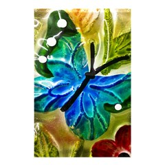 Blue Spotted Butterfly Art In Glass With White Spots Shower Curtain 48  x 72  (Small)