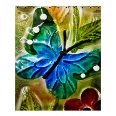 Blue Spotted Butterfly Art In Glass With White Spots Shower Curtain 60  x 72  (Medium)