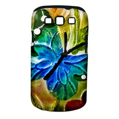 Blue Spotted Butterfly Art In Glass With White Spots Samsung Galaxy S Iii Classic Hardshell Case (pc+silicone)