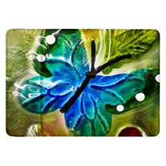 Blue Spotted Butterfly Art In Glass With White Spots Samsung Galaxy Tab 8.9  P7300 Flip Case