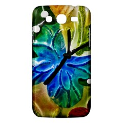 Blue Spotted Butterfly Art In Glass With White Spots Samsung Galaxy Mega 5 8 I9152 Hardshell Case