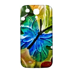 Blue Spotted Butterfly Art In Glass With White Spots Samsung Galaxy S4 I9500/i9505  Hardshell Back Case