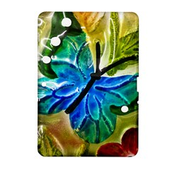 Blue Spotted Butterfly Art In Glass With White Spots Samsung Galaxy Tab 2 (10.1 ) P5100 Hardshell Case