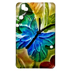 Blue Spotted Butterfly Art In Glass With White Spots Samsung Galaxy Tab Pro 8 4 Hardshell Case
