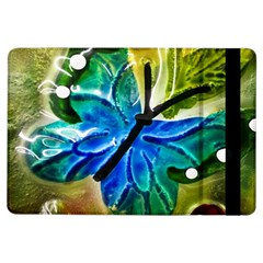 Blue Spotted Butterfly Art In Glass With White Spots iPad Air Flip