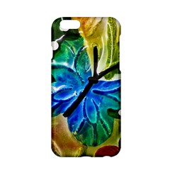 Blue Spotted Butterfly Art In Glass With White Spots Apple Iphone 6/6s Hardshell Case