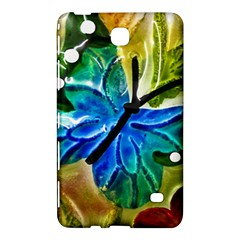 Blue Spotted Butterfly Art In Glass With White Spots Samsung Galaxy Tab 4 (7 ) Hardshell Case