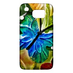 Blue Spotted Butterfly Art In Glass With White Spots Galaxy S6