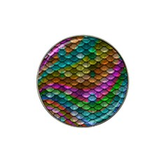 Fish Scales Pattern Background In Rainbow Colors Wallpaper Hat Clip Ball Marker (4 Pack)