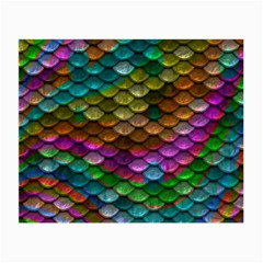 Fish Scales Pattern Background In Rainbow Colors Wallpaper Small Glasses Cloth