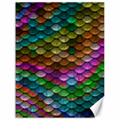 Fish Scales Pattern Background In Rainbow Colors Wallpaper Canvas 18  X 24