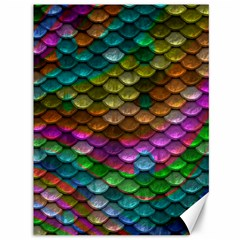 Fish Scales Pattern Background In Rainbow Colors Wallpaper Canvas 36  X 48