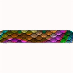 Fish Scales Pattern Background In Rainbow Colors Wallpaper Small Bar Mats