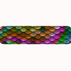 Fish Scales Pattern Background In Rainbow Colors Wallpaper Large Bar Mats