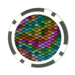 Fish Scales Pattern Background In Rainbow Colors Wallpaper Poker Chip Card Guard