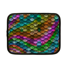 Fish Scales Pattern Background In Rainbow Colors Wallpaper Netbook Case (small)