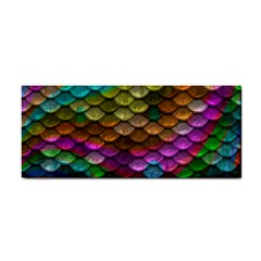 Fish Scales Pattern Background In Rainbow Colors Wallpaper Cosmetic Storage Cases