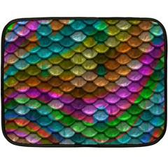 Fish Scales Pattern Background In Rainbow Colors Wallpaper Fleece Blanket (Mini)
