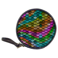 Fish Scales Pattern Background In Rainbow Colors Wallpaper Classic 20-CD Wallets