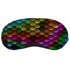 Fish Scales Pattern Background In Rainbow Colors Wallpaper Sleeping Masks
