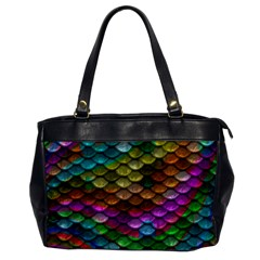 Fish Scales Pattern Background In Rainbow Colors Wallpaper Office Handbags