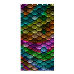 Fish Scales Pattern Background In Rainbow Colors Wallpaper Shower Curtain 36  x 72  (Stall)