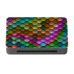 Fish Scales Pattern Background In Rainbow Colors Wallpaper Memory Card Reader with CF
