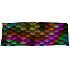 Fish Scales Pattern Background In Rainbow Colors Wallpaper Body Pillow Case Dakimakura (Two Sides)
