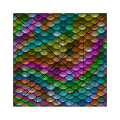 Fish Scales Pattern Background In Rainbow Colors Wallpaper Acrylic Tangram Puzzle (6  x 6 )