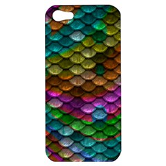 Fish Scales Pattern Background In Rainbow Colors Wallpaper Apple iPhone 5 Hardshell Case