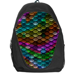 Fish Scales Pattern Background In Rainbow Colors Wallpaper Backpack Bag