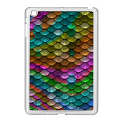 Fish Scales Pattern Background In Rainbow Colors Wallpaper Apple Ipad Mini Case (white)