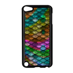 Fish Scales Pattern Background In Rainbow Colors Wallpaper Apple iPod Touch 5 Case (Black)