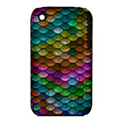 Fish Scales Pattern Background In Rainbow Colors Wallpaper Iphone 3s/3gs