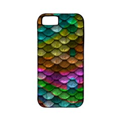Fish Scales Pattern Background In Rainbow Colors Wallpaper Apple Iphone 5 Classic Hardshell Case (pc+silicone)