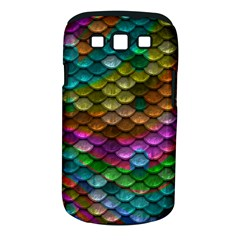 Fish Scales Pattern Background In Rainbow Colors Wallpaper Samsung Galaxy S Iii Classic Hardshell Case (pc+silicone)