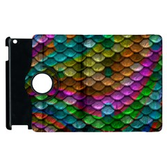 Fish Scales Pattern Background In Rainbow Colors Wallpaper Apple iPad 3/4 Flip 360 Case