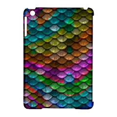 Fish Scales Pattern Background In Rainbow Colors Wallpaper Apple Ipad Mini Hardshell Case (compatible With Smart Cover)
