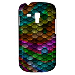 Fish Scales Pattern Background In Rainbow Colors Wallpaper Galaxy S3 Mini