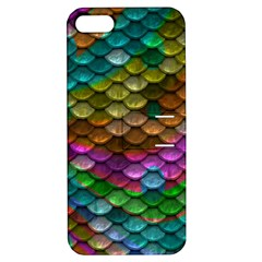 Fish Scales Pattern Background In Rainbow Colors Wallpaper Apple iPhone 5 Hardshell Case with Stand