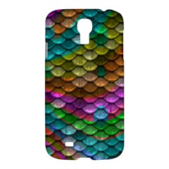 Fish Scales Pattern Background In Rainbow Colors Wallpaper Samsung Galaxy S4 I9500/i9505 Hardshell Case