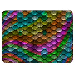 Fish Scales Pattern Background In Rainbow Colors Wallpaper Samsung Galaxy Tab 7  P1000 Flip Case