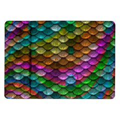 Fish Scales Pattern Background In Rainbow Colors Wallpaper Samsung Galaxy Tab 10.1  P7500 Flip Case